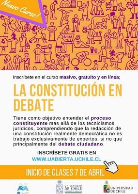 """""""La Constitución en debate"""", Universidad de Chile (c)"""