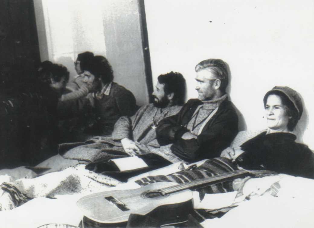 Mariano Puga en huelga de hambre en 1978. Es de La Minga en Villa Francia.