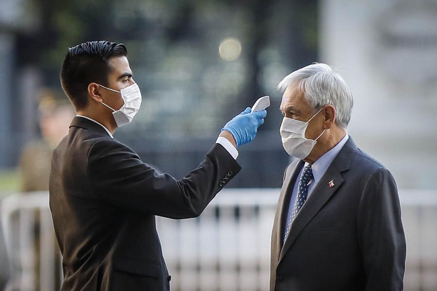 Control al presidente Piñera durante este jueves   Agencia UNO