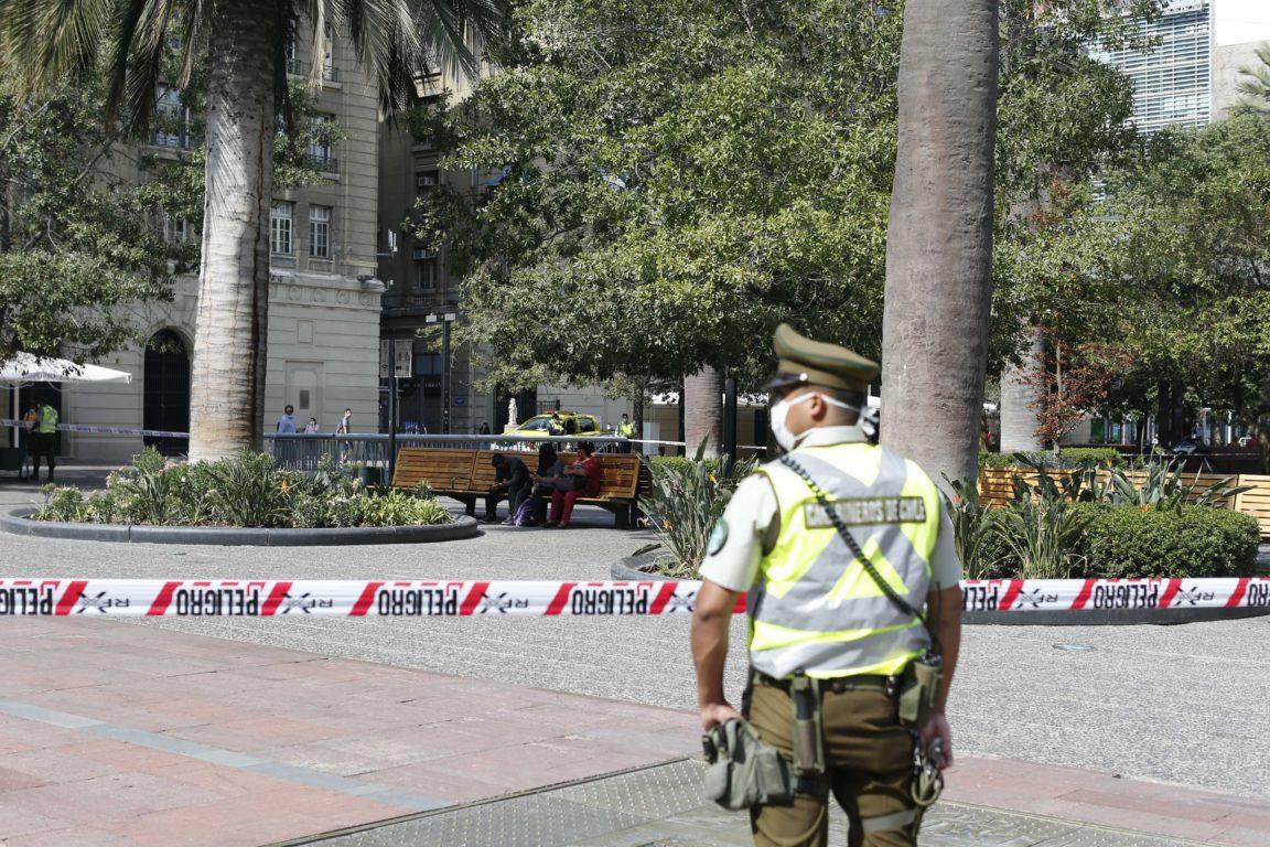 Operativo en Plaza de Armas