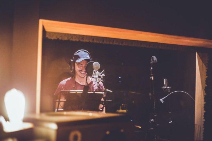 Abel Zicavo en grabación | Cedida