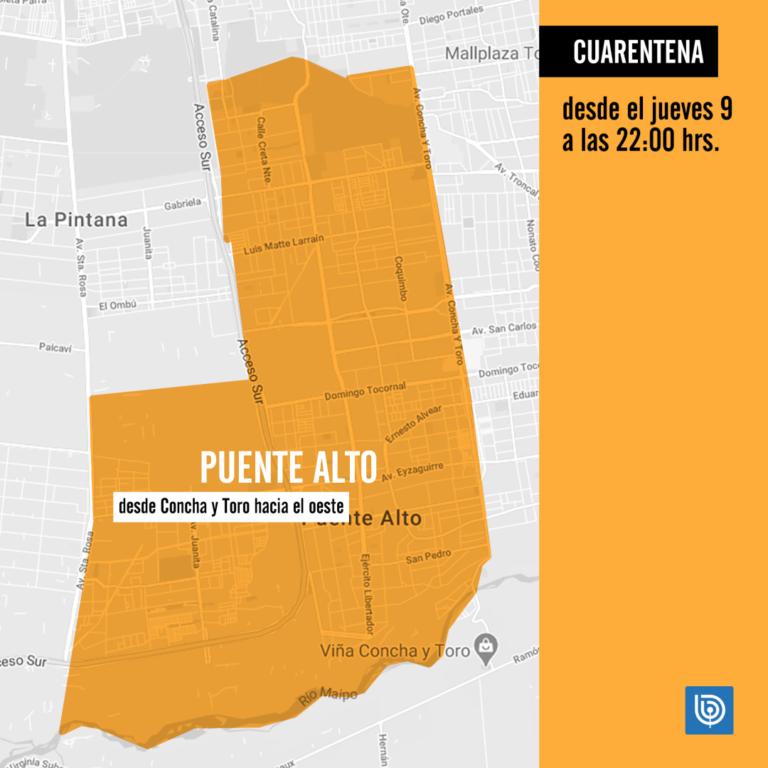 Cuarentena en Puente Alto