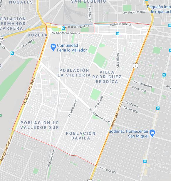 Pedro Aguirre Cerda |Google Maps