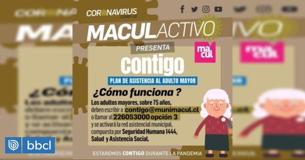 Macul lanza plan para apoyar a los adultos mayores de la comuna durante emergencia