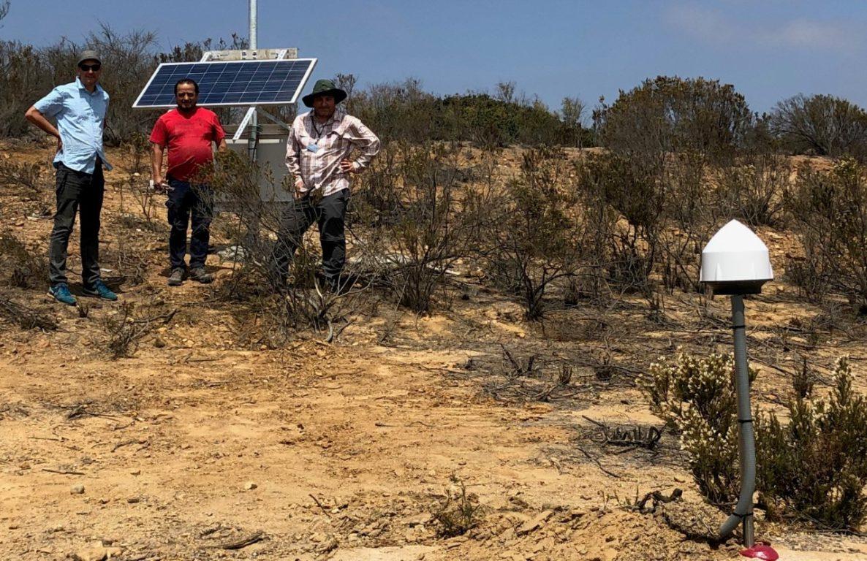 Marcos Moreno (izquierda) y parte del equipo de investigación en terreno