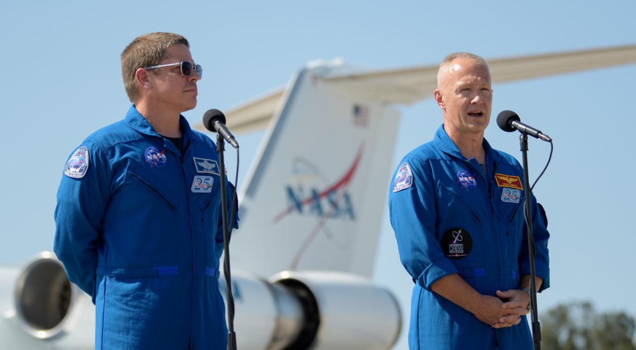 Robert Behnken (izquierda) y Douglas Hurley | Agence France-Presse