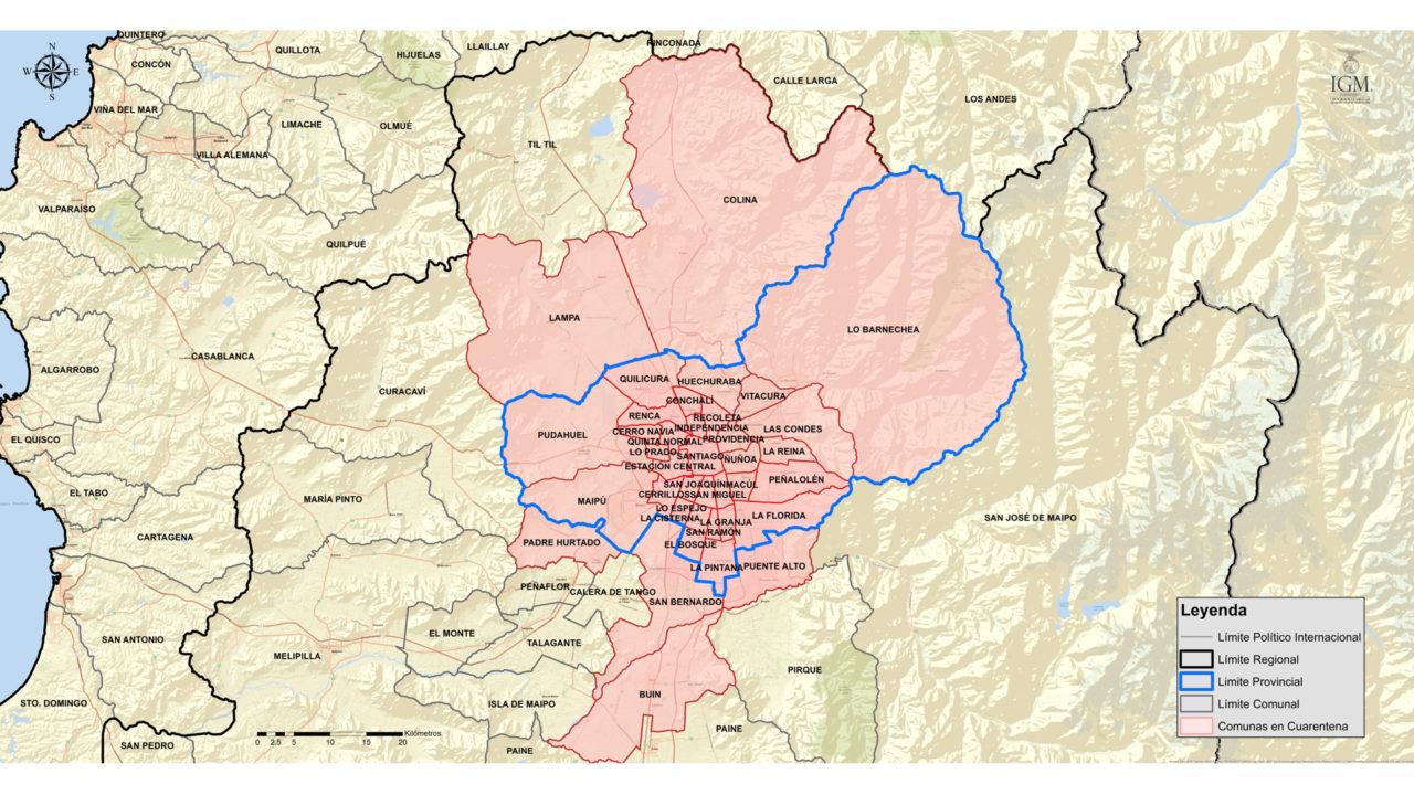 Zona rosada indica cuarentena | Gobierno