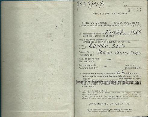 Pasaporte de refugiado, Jorge Reveco (c)