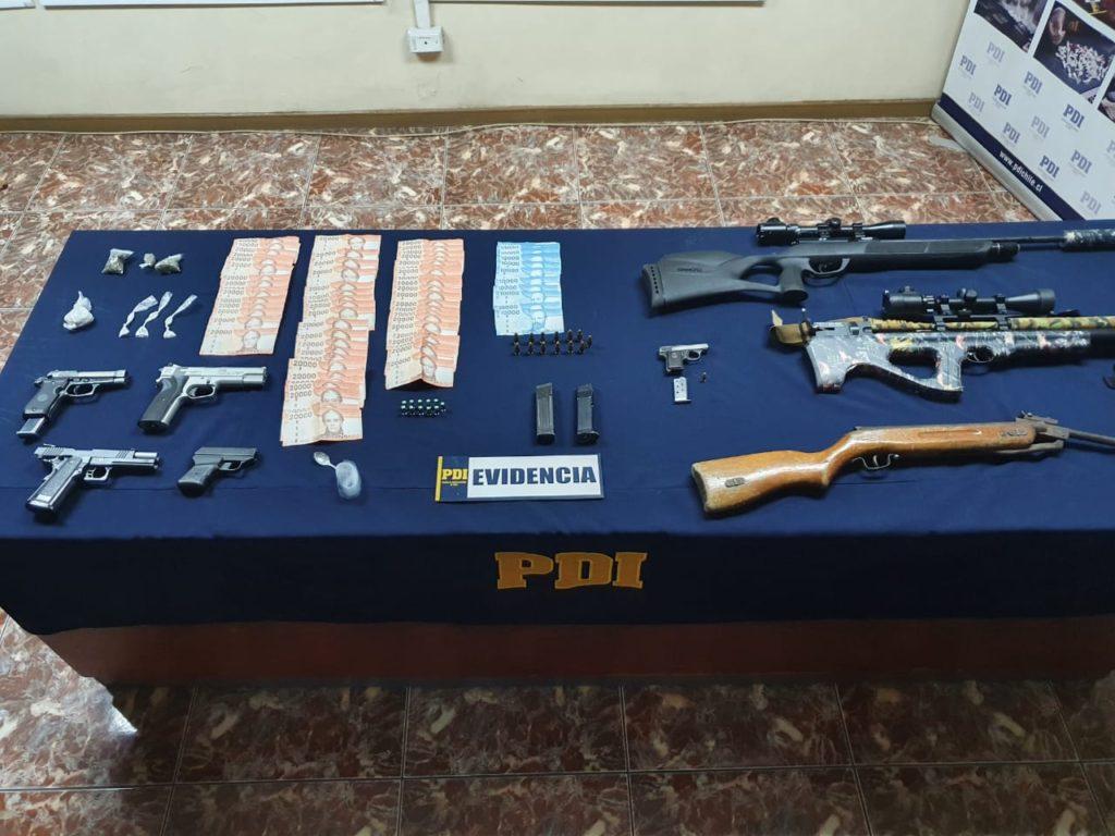 Armas incautadas en Maipú