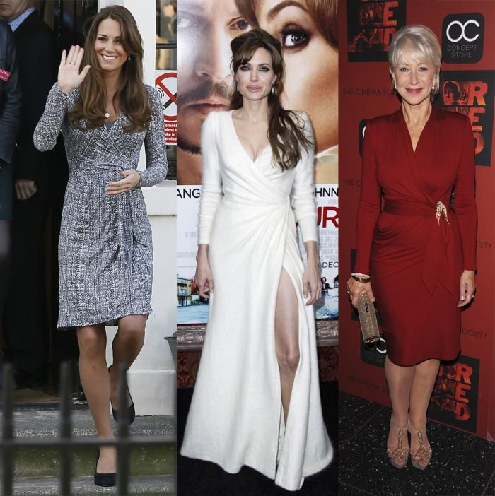 Kate Middleton, Angelina Jolie y Helen MIrren