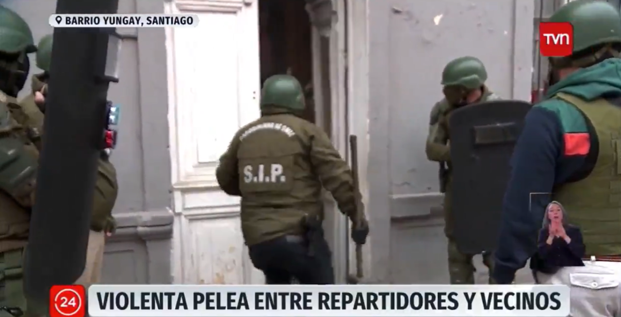 Allanamiento en Santiago Centro