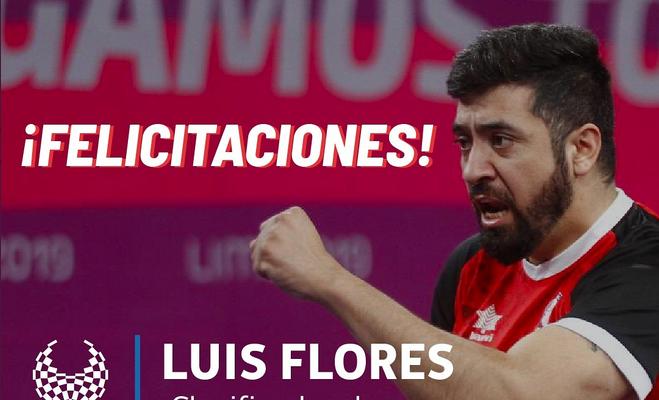 Tenimesista Luis Flores clasificó a los Juegos Paralímpicos de Tokio 2020