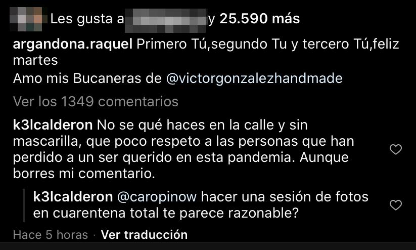 Raquel Argandoña | Instagram
