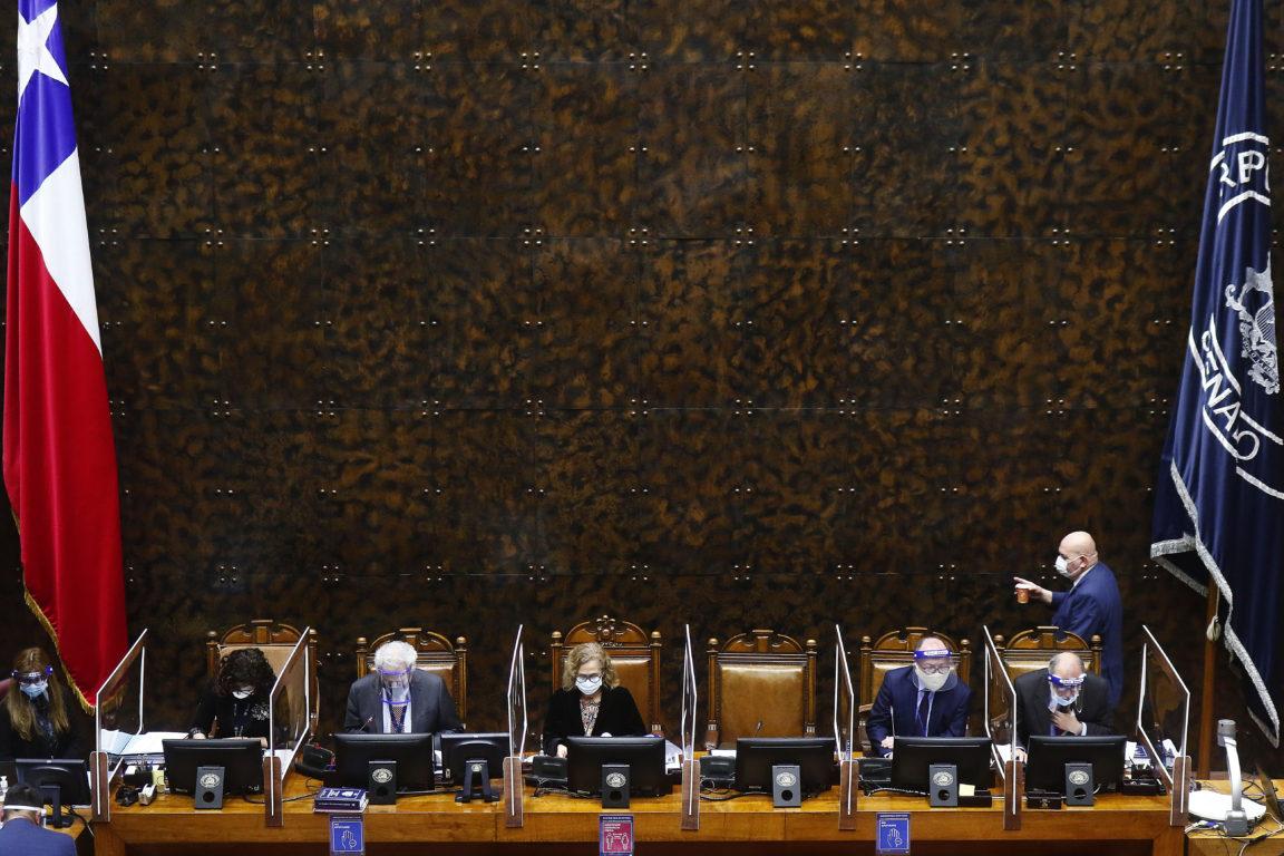 Mesa del Senado este martes | Agencia UNO