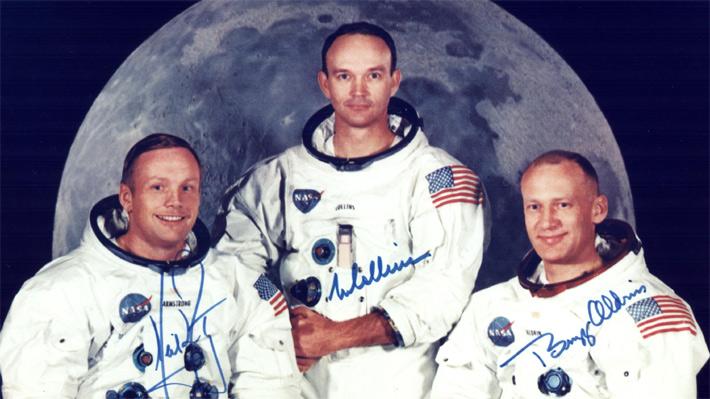 Armstrong, Collins y Aldrin   NASA