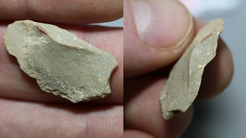 Uno de los artefactos de piedra caliza encontrados en el sitio   Ciprian Ardelean