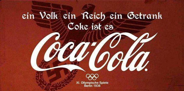 Coca Cola auspiciando las Olimpiadas de Berlín 1936
