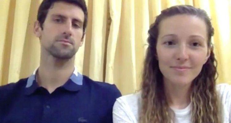 Superaron el Covid-19: Djokovic y su esposa Jelena dan negativo a nuevo test tras aislamiento
