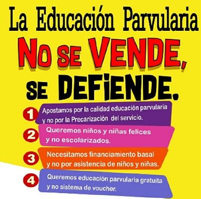 La Educación Parvularia no se vende, EVEP Inicial (c)