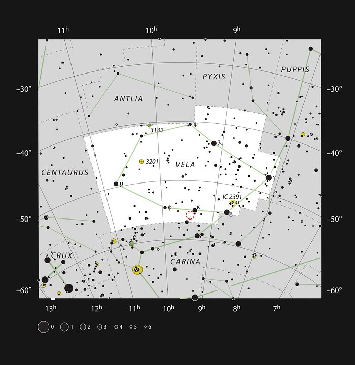 NGC 2899 en la constelación de Vela | ESO