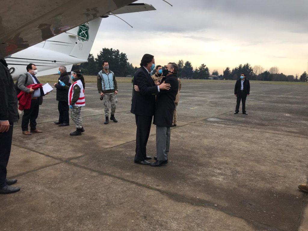Ministro Víctor Pérez e intendente Víctor Manoli | Cedida