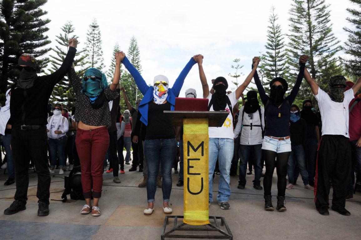Estudiantes de la Universidad Nacional Autonoma de Honduras | Agence France Presse