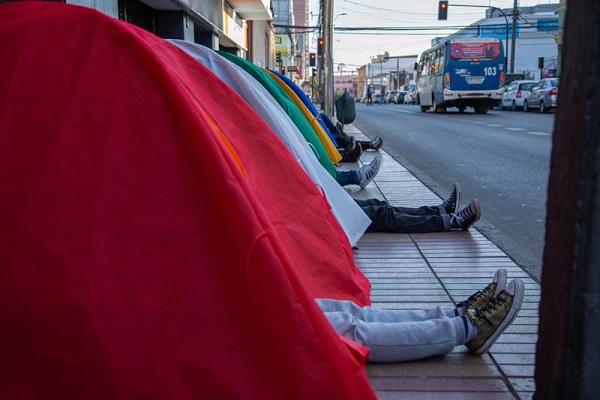 Any Where: intervención del artista venezolano Marcos Temoche en Antofagasta, Proyecto SACO (c)