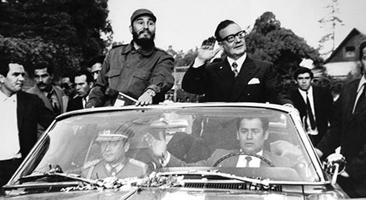 Fidel Castro y Salvador Allende en Chile