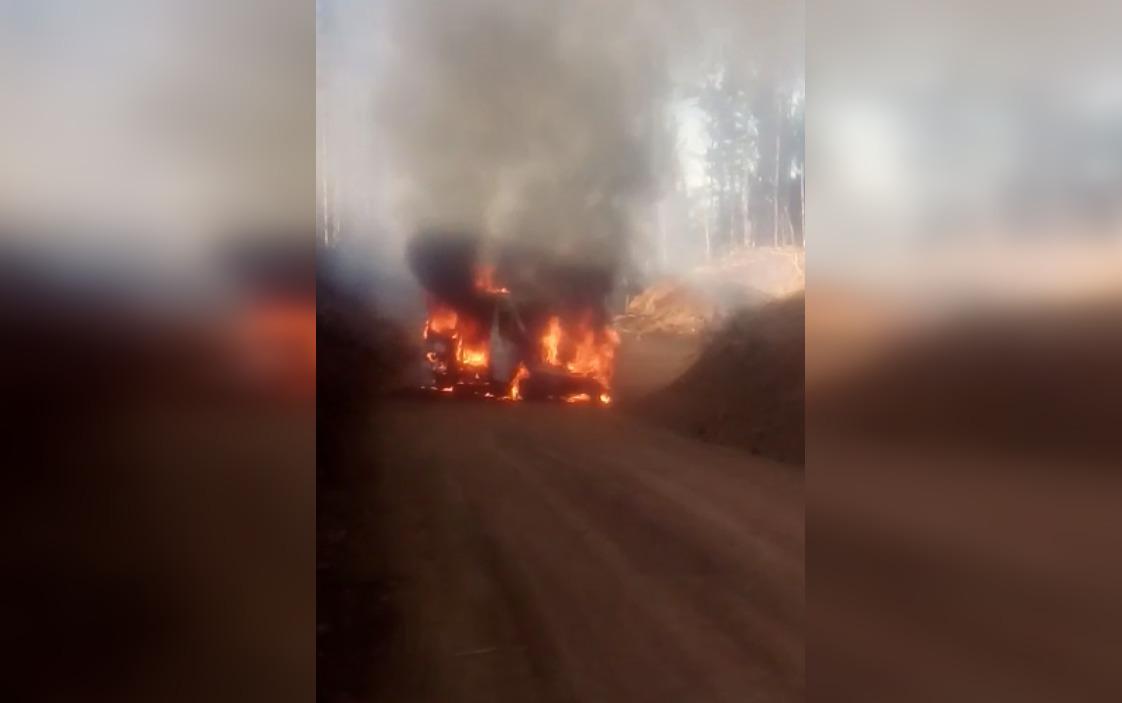 Destruyen maquinaria forestal durante ataque incendiario en faena de Cañete