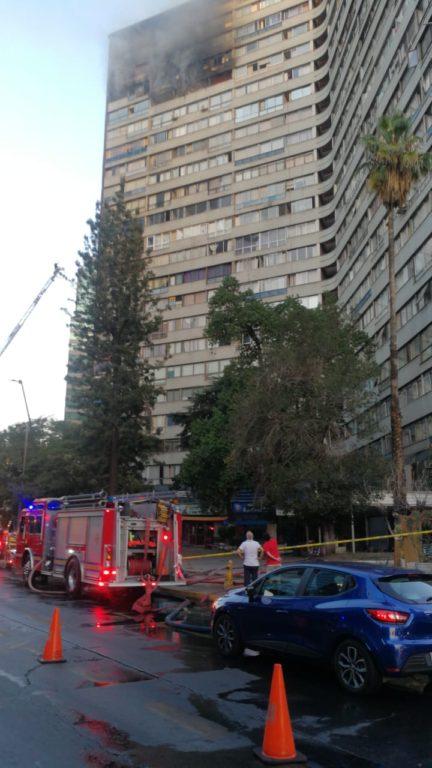 incendio edificio Providencia