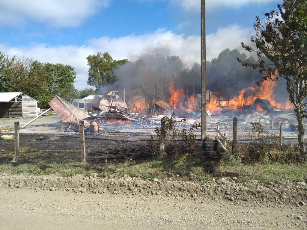 incendio escuela Río Bueno