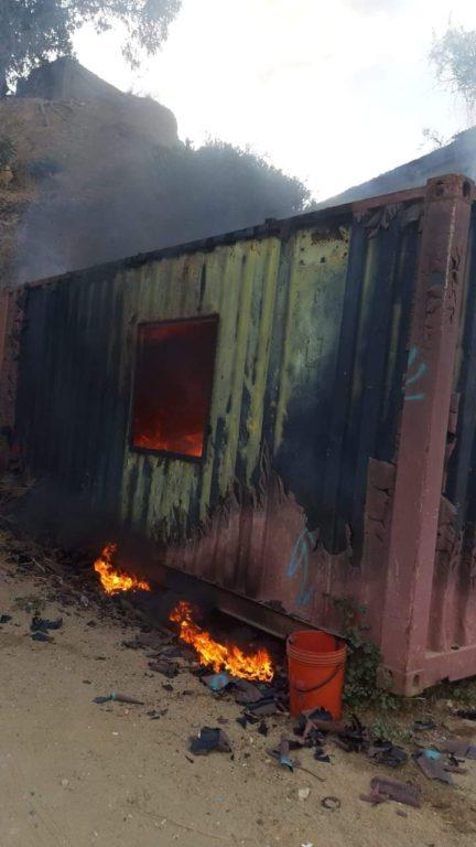 Incendio en la quinta región