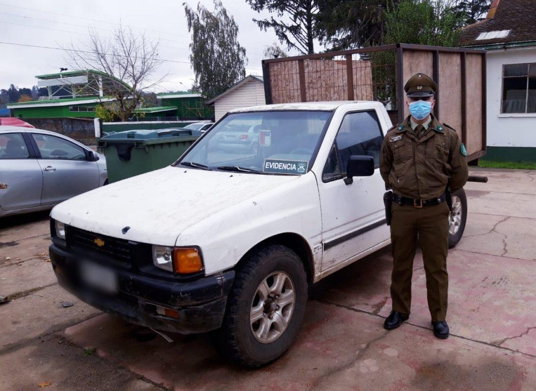 Detienen a 3 personas por robo de madera en fundo Quinchamahuida en sector rural de Traiguén