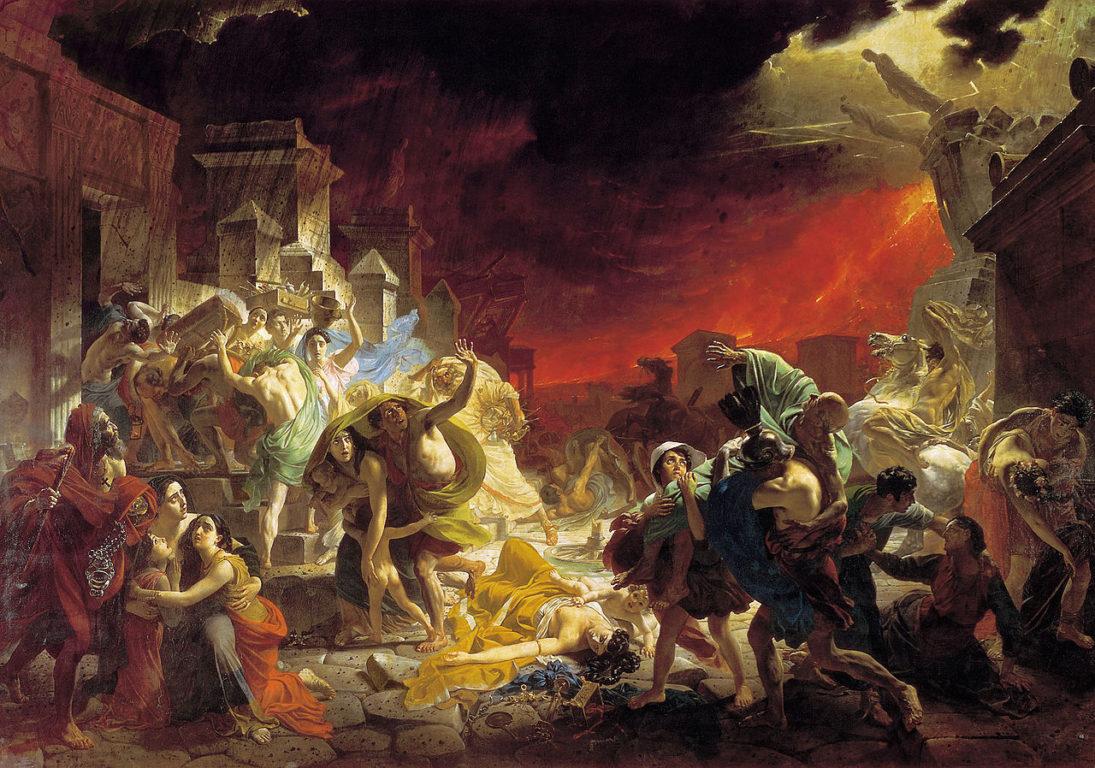 La destrucción de Pompeya por Karl Briulov