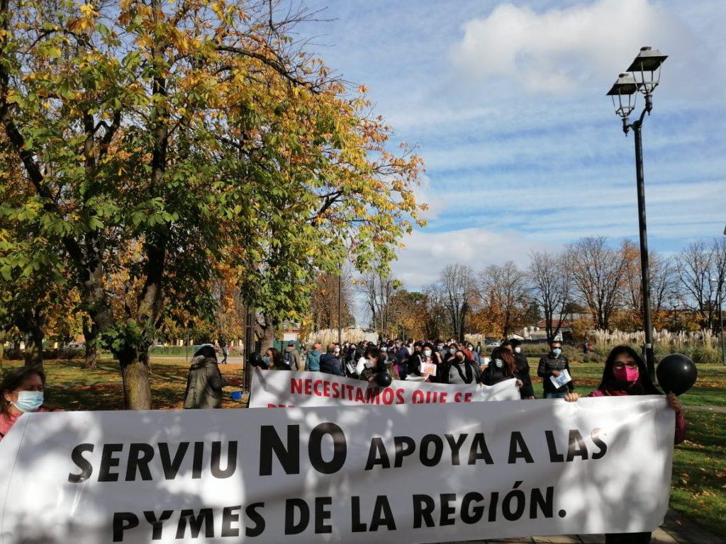 Temuco: beneficiarios de subsidios de vivienda se manifiestan por retraso en ejecución de proyectos