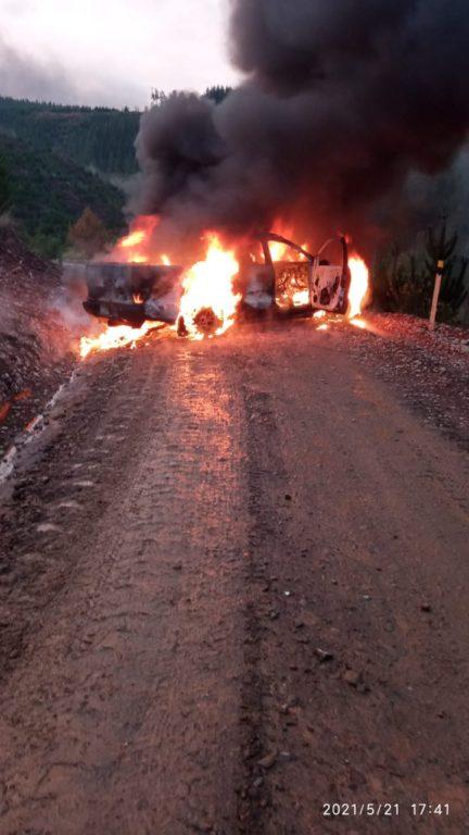 Dos ataques incendiarios registrados durante esta tarde en La Araucanía: Gobierno condenó los hechos