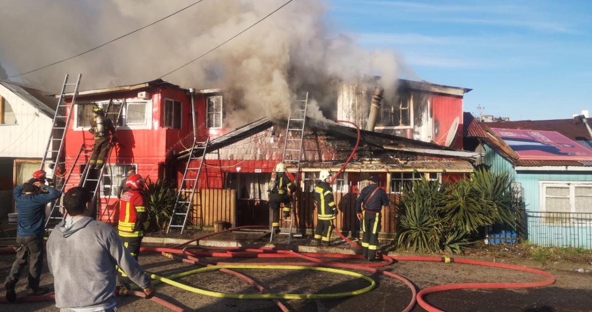 incendio vivienda Puerto Montt