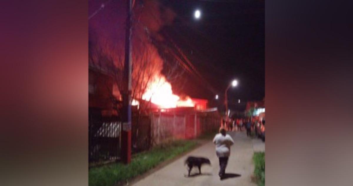 incendio en Penco
