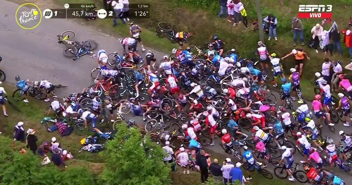 Caida Tour de Francia