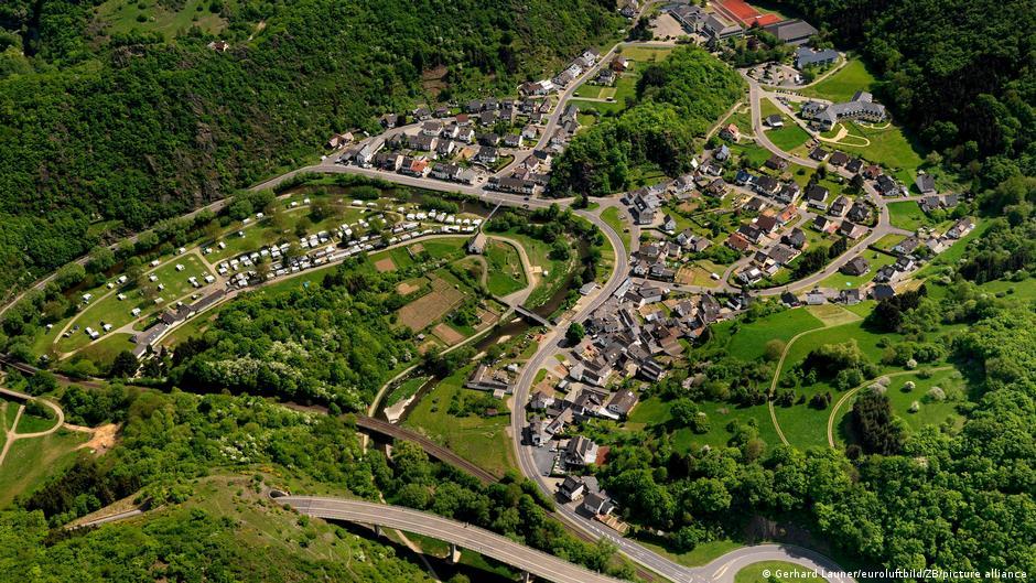 Valle de Altenahr previo a las inundaciones
