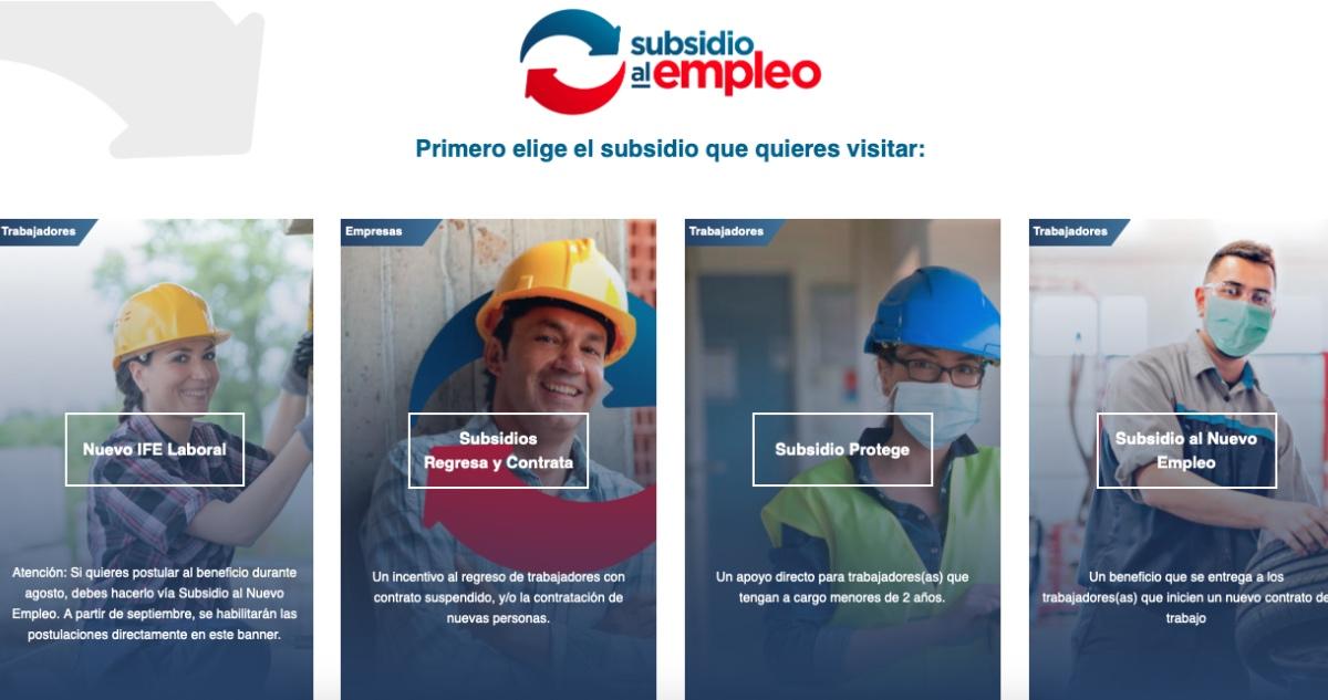 sitio web de Subsidio al Empleo