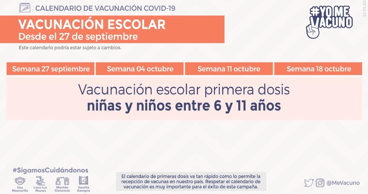 Calendario vacunación escolar