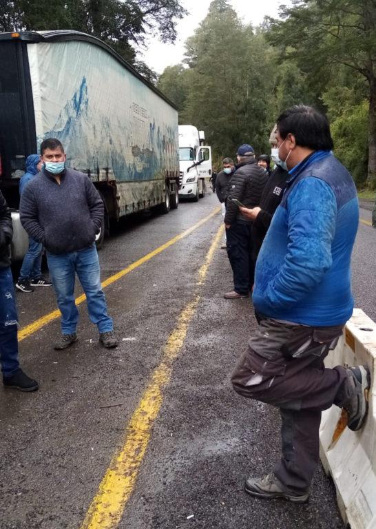 Más de 40 camiones detenidos en Paso Cardenal Samoré