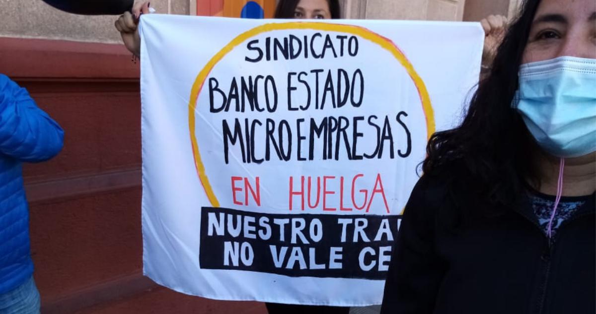 huelga sindicato banco estado