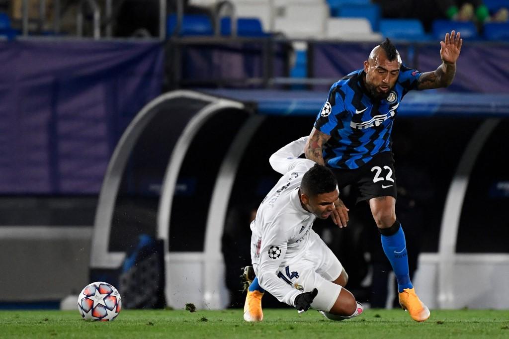 Arturo Vidal (Inter) y Casemiro (Real Madrid)