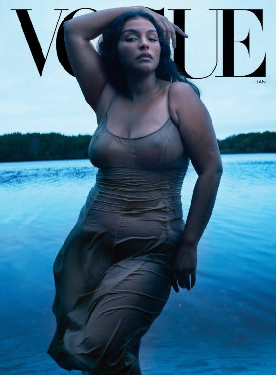Paloma para Vogue en un vestido de Michael Kors Collection